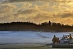 Kirchberg am frühen Morgen