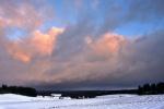 Wolken in der Morgensonne